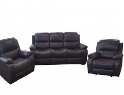 Minkštų baldų komplektas su foteliais reglaineriais